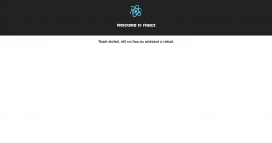 Welcome to react with typescript.